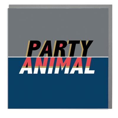 Party Animal Card - Lola Design Ltd