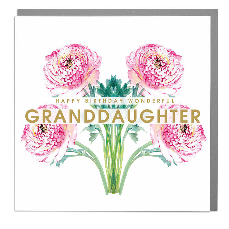 Wonderful Granddaughter Birthday Card - Lola Design Ltd