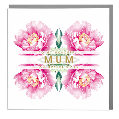 Wonderful Mum On Mother's Day Card - Lola Design Ltd