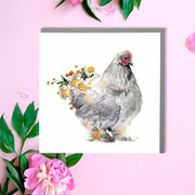 Brahma Hen Card - Lola Design Ltd
