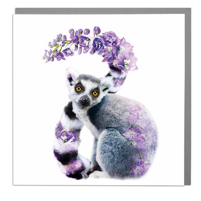 Ring Tailed Lemur Card - Lola Design Ltd