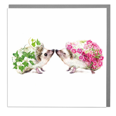 Two Hedgehogs Card - Lola Design Ltd