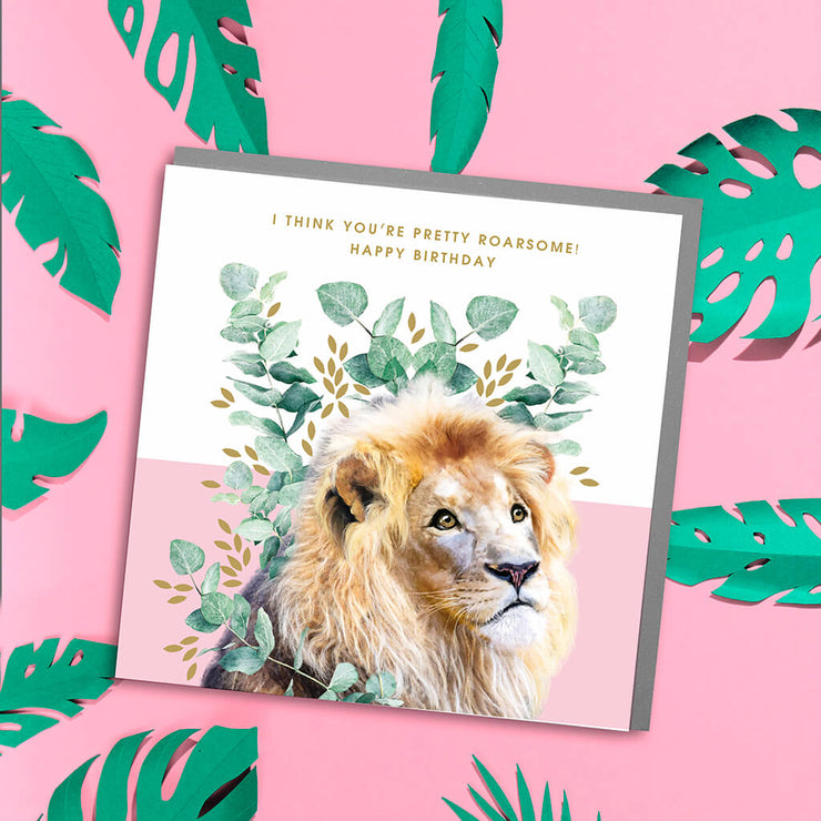 Lion Birthday Card - Lola Design Ltd