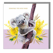 Koala Big Hugs Card - Lola Design Ltd