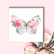 Pink Butterfly Card - Lola Design Ltd