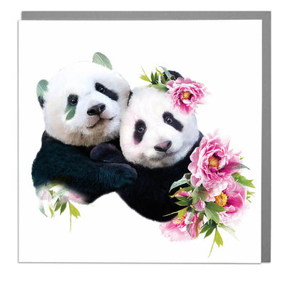 Two Pandas Card - Lola Design Ltd