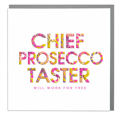 Chief Prosecco Taster Card - Lola Design Ltd
