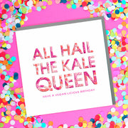 Kale Queen Birthday Card - Lola Design Ltd
