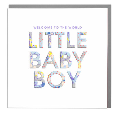 Little Baby Boy Card - Lola Design Ltd