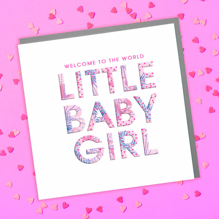 Little Baby Girl Card - Lola Design Ltd