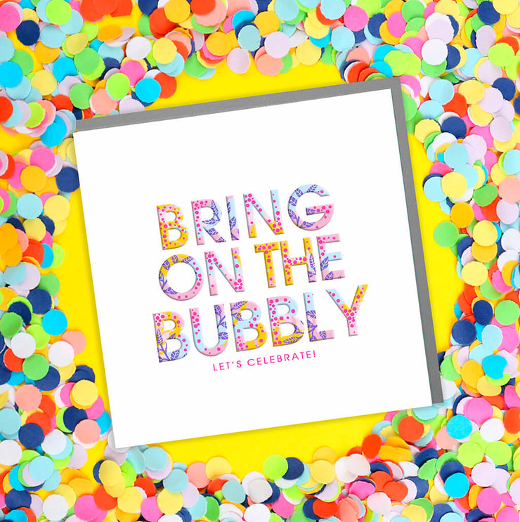 Congratulations Bubbly Card - Lola Design Ltd