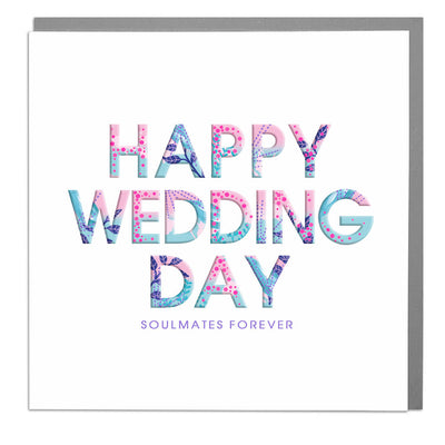 Happy Wedding Day Card - Lola Design Ltd