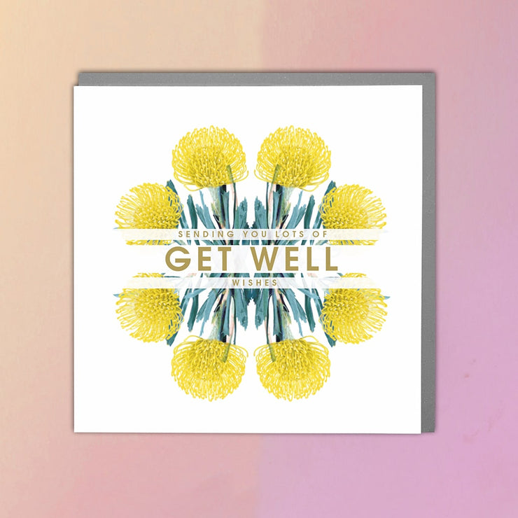 Get Well Wishes Card - Lola Design Ltd