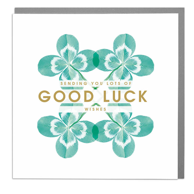 Good Luck Wishes Card - Lola Design Ltd