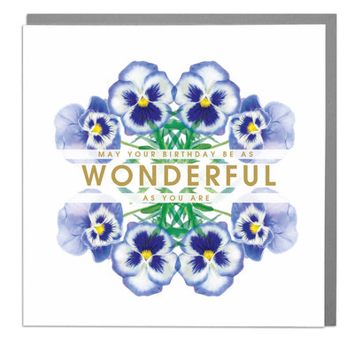 Wonderful Birthday Card - Lola Design Ltd