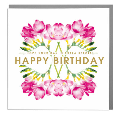Extra Special Happy Birthday Card - Lola Design Ltd