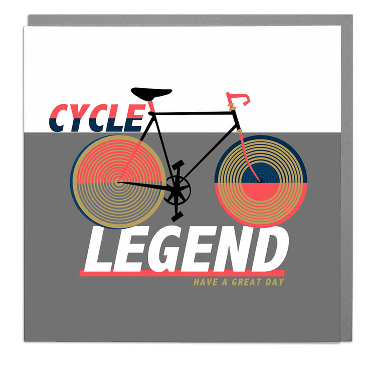 Cycle Legend Birthday Card - Lola Design Ltd