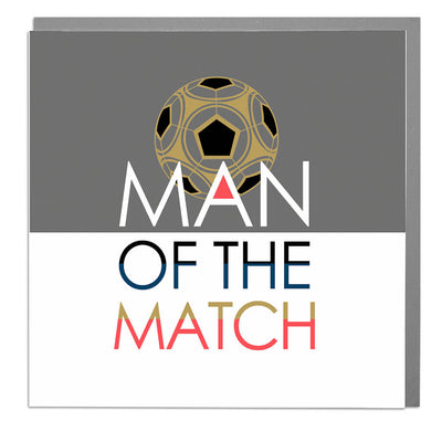 Man Of The Match Birthday Card - Lola Design Ltd