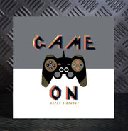 Game On Birthday Card - Lola Design Ltd