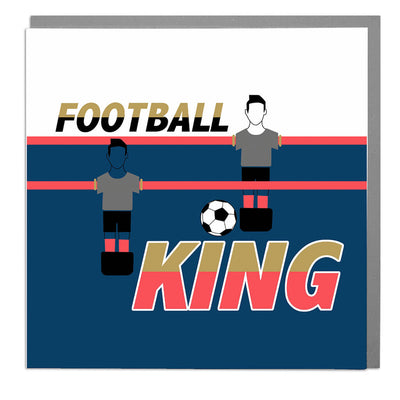 Football King Birthday Card - Lola Design Ltd