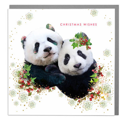 Panda Christmas Wishes Card - Lola Design Ltd