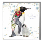 Penguins Wonderful Christmas Card - Lola Design Ltd