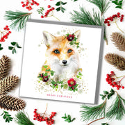 Fox Merry Christmas Card - Lola Design Ltd