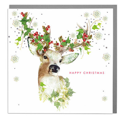 Stag Happy Christmas Card - Lola Design Ltd