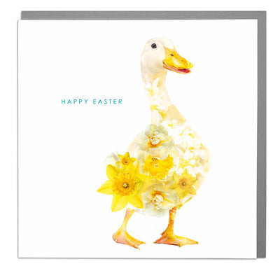 Peking Duck Happy Easter Card - Lola Design Ltd