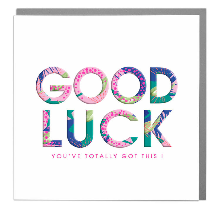 Good Luck Card - Lola Design Ltd