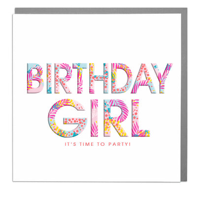Birthday Girl Card - Lola Design Ltd