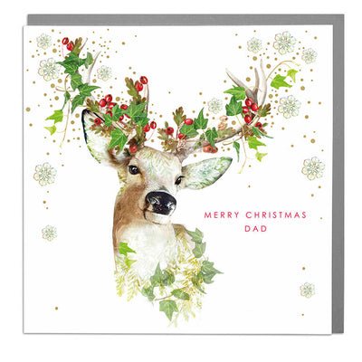 Merry Christmas Dad Card - Lola Design Ltd