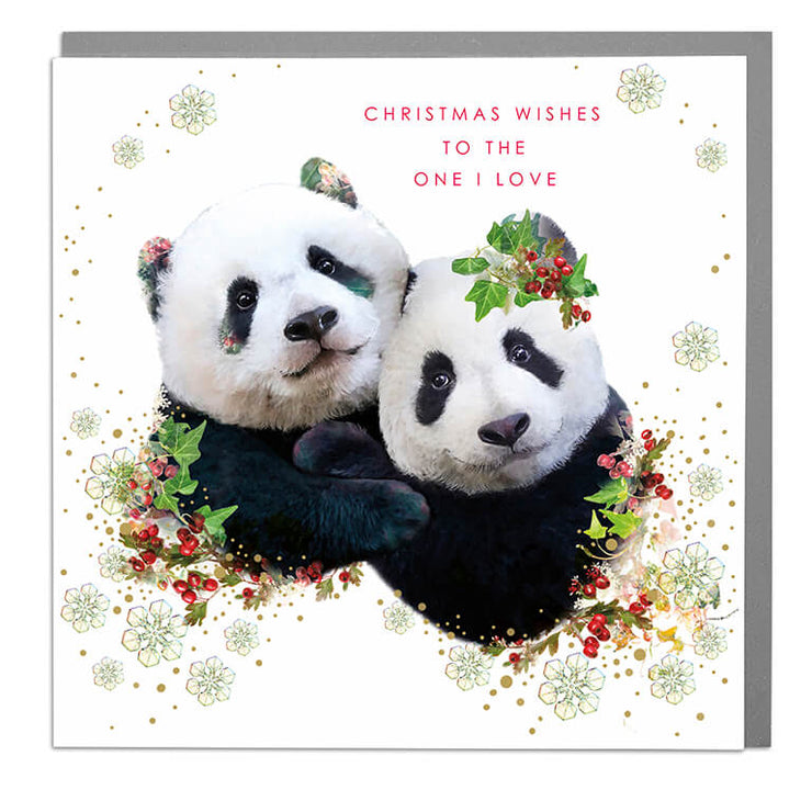 Christmas Wishes To The One I Love Card - Lola Design Ltd