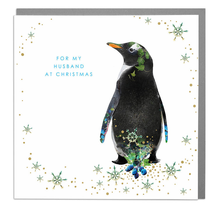 For My Husband At Christmas Card - Lola Design Ltd