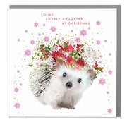 Lovely Daughter At Christmas Card - Lola Design Ltd
