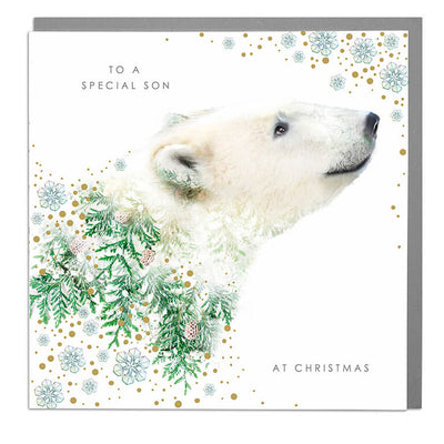 Special Son Christmas Card - Lola Design Ltd