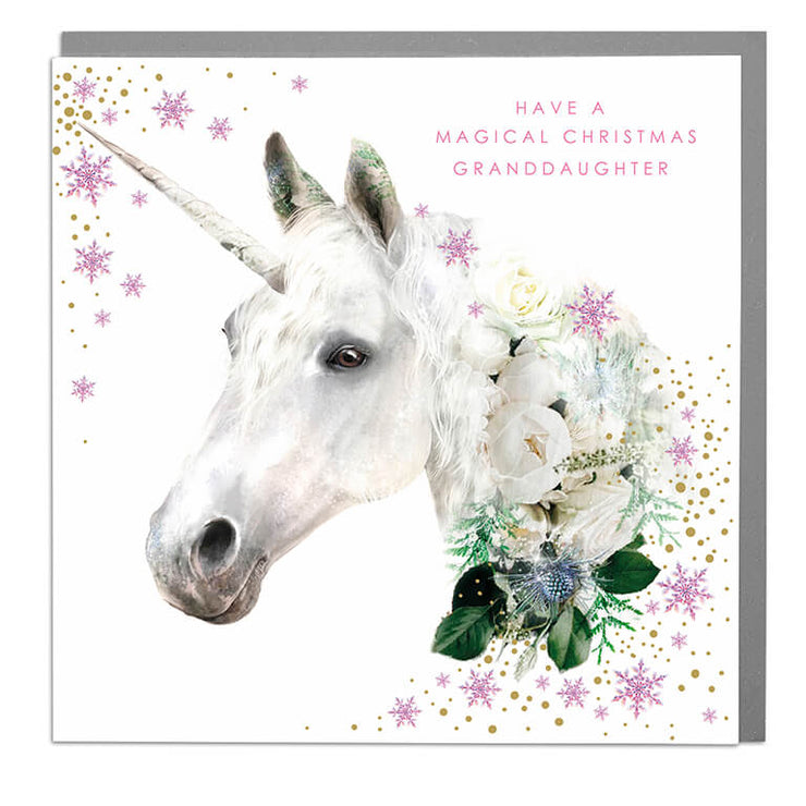 Granddaughter Magical Christmas Card - Lola Design Ltd