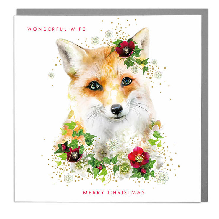 Wonderful Wife Christmas Card - Lola Design Ltd