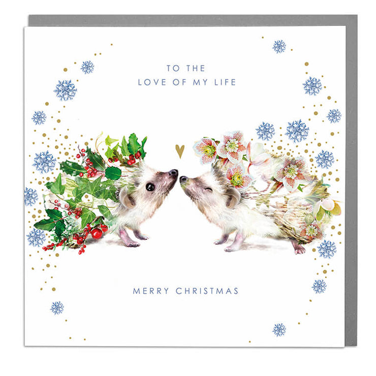 Love Of My Life Christmas Card - Lola Design Ltd