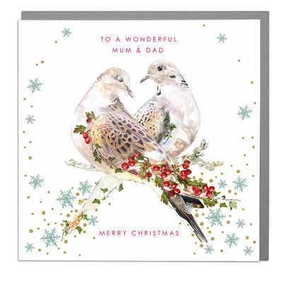 Wonderful Mum And Dad Christmas Card - Lola Design Ltd
