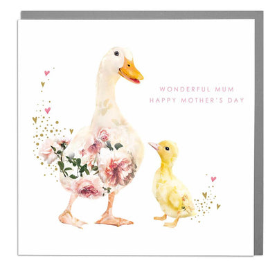 Two Ducks Wonderful Mum Mother's Day Card - Lola Design Ltd