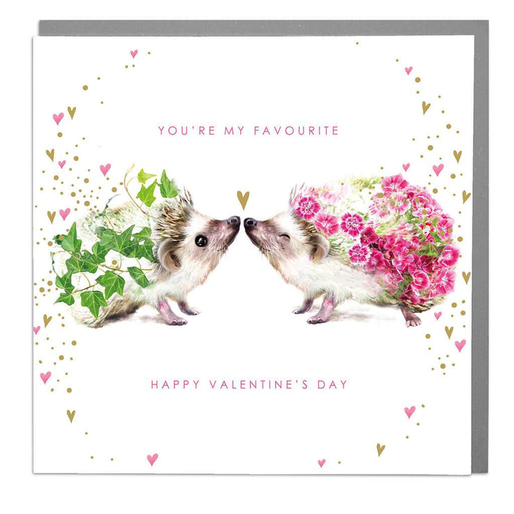 Hedgehogs Valentine's Day Card - Lola Design Ltd