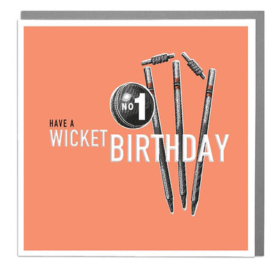 Wicket Birthday Card - Lola Design Ltd
