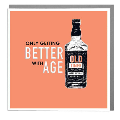 Getting Better With Age Birthday Card - Lola Design Ltd