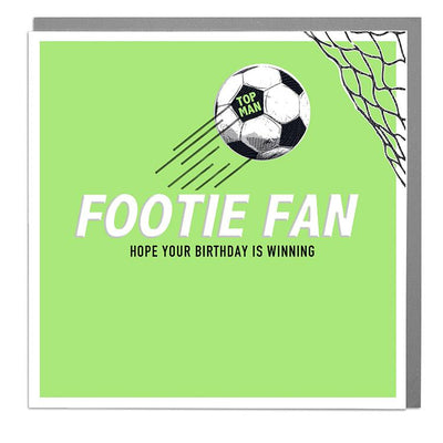 Footie Fan Birthday Card - Lola Design Ltd