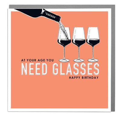 You Need Glasses Birthday Card - Lola Design Ltd