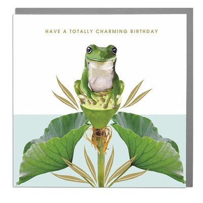 Frog Totally Charming Birthday Card - Lola Design Ltd
