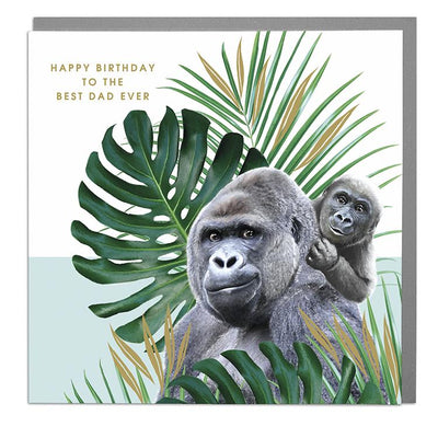 Gorilla Dad Birthday Card - Lola Design Ltd