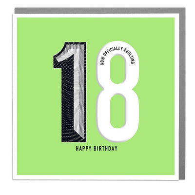 18th Happy Birthday Card - Lola Design Ltd