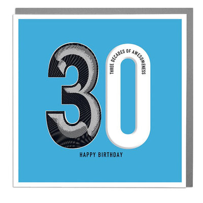 30th Happy Birthday Card - Lola Design Ltd
